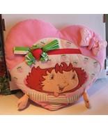 "Strawberry Shortcake Heart Pillow 15"" - $14.99"