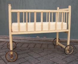Antique 1940s or 1950s Doll Crib - $50.00