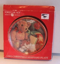 American Greeting Forget Me Not Plate - $7.99