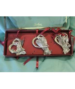 Gorham Holiday Peace Love Hope Ornaments Silver... - $24.99