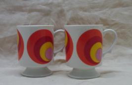 Vintage Mid Century Retro BULLS EYE Coffee Mugs/Cups - $10.00