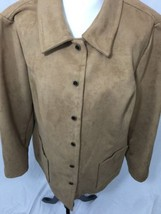 Womans Evan-Picone Coat Size XXXL 3XL Faux Sued... - $18.66