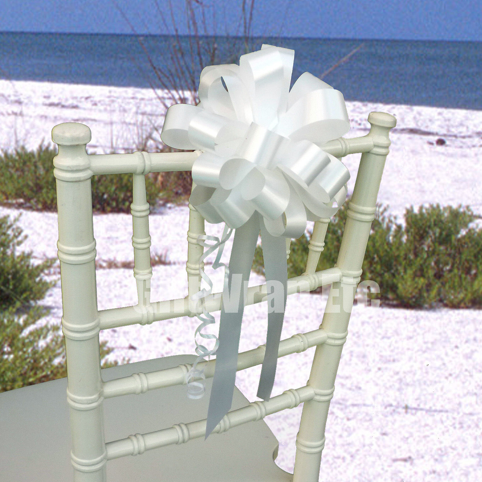 6 Pull Bows Wedding Church Chair Baptism Ceremony