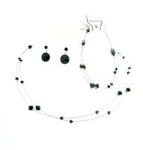 Striking smashing Black Dress Jewelry Affordable Buy Complete Set - $35.48