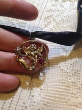 Nemesis Vintage Golden Finish Angel Pendant Necklace - $18.70