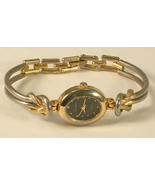 Pierre Nicol Watch Black Face with Gold Colored Metal and Silver Colored Band - $12.95
