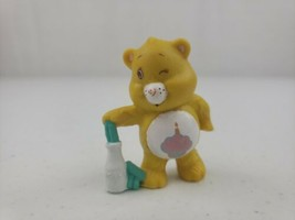 Vintage Care Bears Birthday Bear with Milk PVC Figure AGC 1984 2in - $7.30
