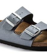 Birkenstock Arizona Icy Metallic Anthracite Womens Grey Narrow Sandals 1... - £86.94 GBP