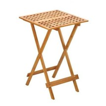 Accent Plus Bamboo Wood Folding Tray Table for Home, House, Room, Apartm... - $62.50
