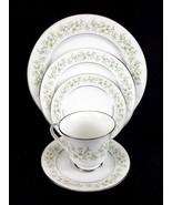 NORITAKE china Savannah Pattern SERVICE for 6Dinner & Salad Plates Tea ... - $149.95