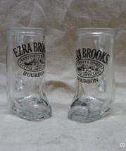 Vintage EZRA BROOKS BOURBON Boot Shaped Shot Glasses // Western Shot Gla... - €8,58 EUR