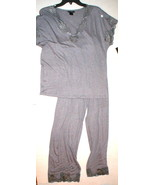 NWT New Designer Natori Medium Gray Pajamas PJ'... - $114.00