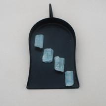 4 Aquamarine Crystal Rough Gems 10 x 6mm each - $9.99