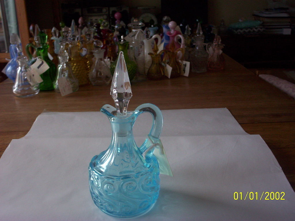 Primary image for L G Wright Blue S Pattern Cruet