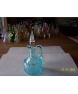 L G Wright Blue S Pattern Cruet - $64.35