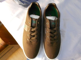 Ralph Lauren POLO Brown Canvas Sneakers(Hanford)   Size: 11.5D  New in box - $59.99