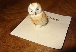 Vintage Owl Miniature Bone China Hamilton Gifts P6163 Presents Taiwan - $25.25