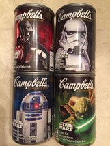 Star Wars Limited Set of 4 Campbell's Soup Darth Vader R2D2 Yoda Storm T... - $11.88