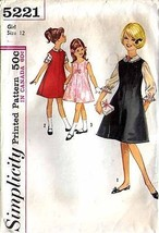 1950's DRESS (or Jumper) & BLOUSE Pattern 5221-s Girl Size 12 - Complete - $9.99