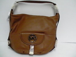Authentic Micheal kors shoulder bag fulton brown tote NS leather new - $212.80
