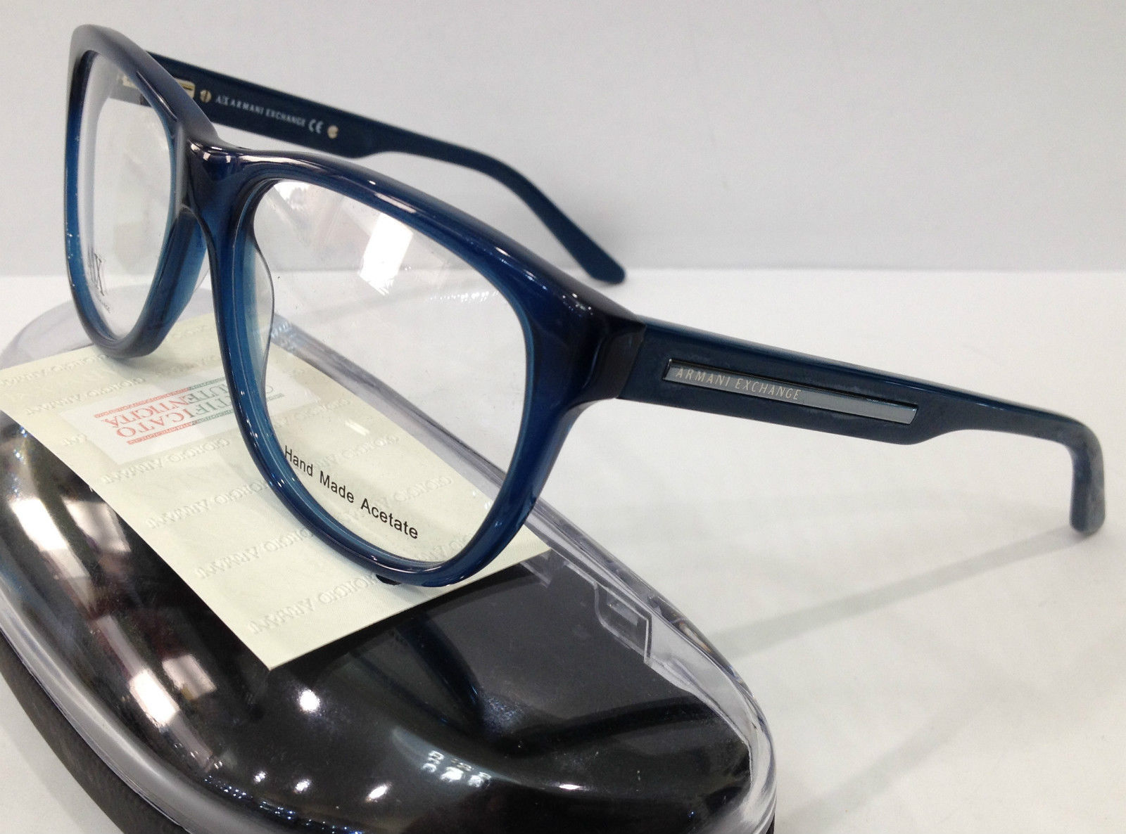 Big Blue Glasses Frames : NEW ARMANI EXCHANGE AX237 COLOR BBO BLUE BIG PLASTIC ...