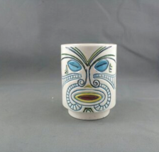 Rare Tiki Glass - 2 Faces Hand Painted - Calgary Lioness Club 1967-68 - $45.00