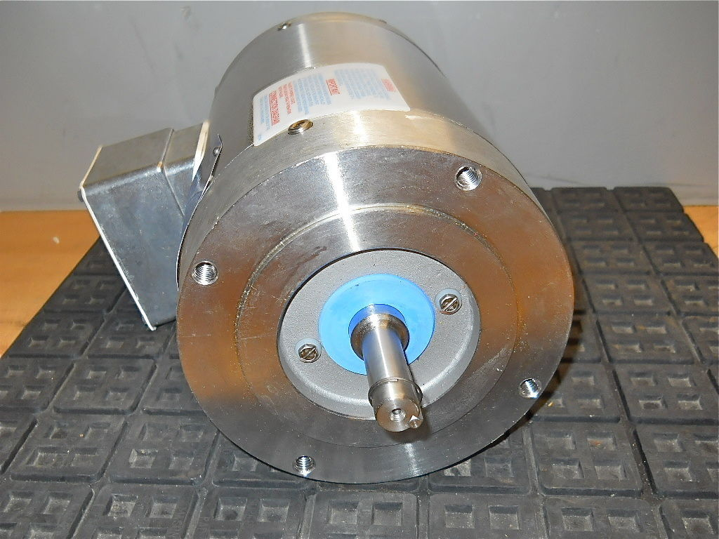 Baldor 1 5 Hp Stainless Steel C Face Washdown Motor 230