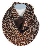 Warm Reversible Infinity Scarf Leopard Print on one size  brown  on the... - $20.53