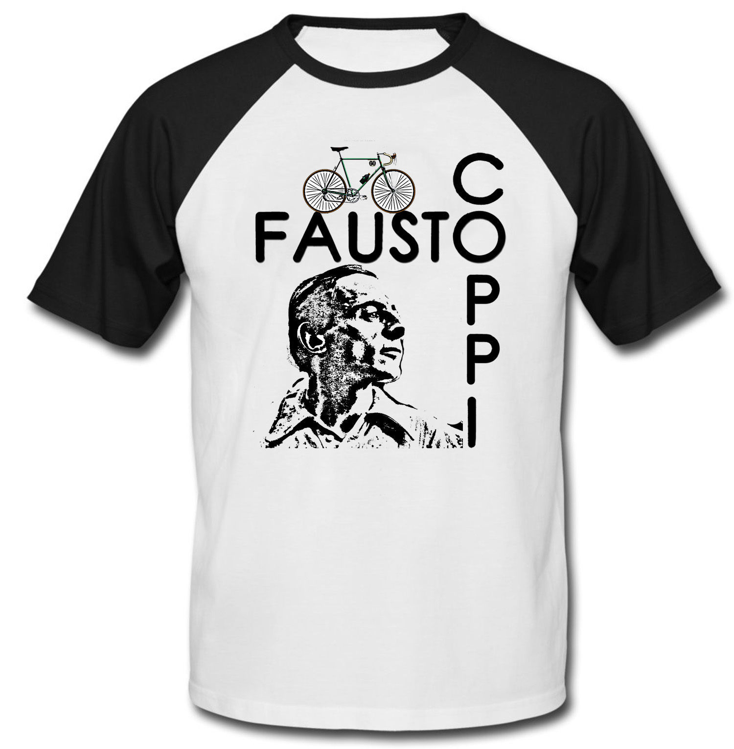 FAUSTO COPPI - NEW COTTON BASEBALL TSHIRT