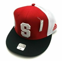 Adidas NC State Wolfpack Old Block S Baseball Flex Hat Red/White Size S/... - $33.99