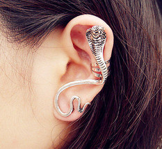 Cobra Ear Cuff, Gothic Punk Stud, Ear Clip - $3.57
