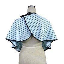Beauty Salon Client Gown Waterproof Coloring Dye Cape Smock, Blue Stripe