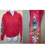 New Womens Romeo & Juliet Couture Hoodie Red Ta... - $149.99