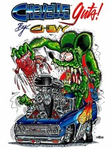 Rat Fink Chevelle, Big Daddy Ed Roth Metal Sign - $34.95