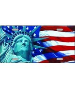 Lady Liberty New York  Flag Decorative Sign Tag... - $18.99