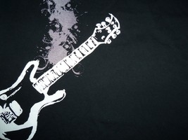 Guitar Rock & Roll Music Theme Black Graphic Print T Shirt L - $15.90