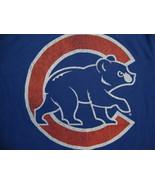 MLB Chicago Cubs Illinois Major League Baseball Fan Blue Distressed T Sh... - $17.36