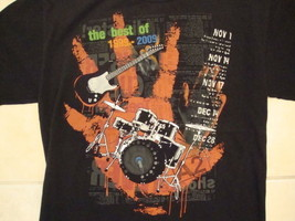 """The Best of 1999-2009"" Drums Electric Guitar A2 Music Soft Black T Shirt M - $17.46"