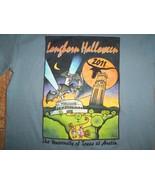 NCAA Halloween 2011 UT Texas Longhorns Blue Graphic Print T Shirt S - $17.46
