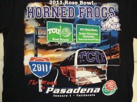 NCAA TCU Horned Frogs Texas Christian University 2011 Rose Bowl Black T Shirt S - $17.46