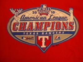 MLB Texas Rangers Major League Baseball Fan 2010 Champions Red T Shirt XL - $17.56