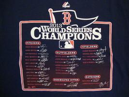 MLB Boston Red Sox Baseball Fan World Series Champions 2013 Majestic T Shirt L - $17.56