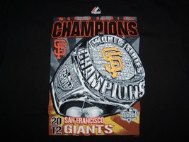 MLB San Francisco Giants 2012 World Series Champs Black Graphic Print T ... - $17.86