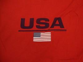 Genuine Sonoma Jean Company USA U.S.A. American Flag Sleeveless Red T Shirt XL - $17.46