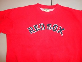 Vintage Red Russell Athletic Embroidered MLB Boston Red Sox 80-20 Sweats... - $32.86