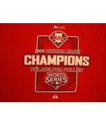 MLB Philadelphia Phillies Major League Baseball World Series 2009 T Shir... - $17.46
