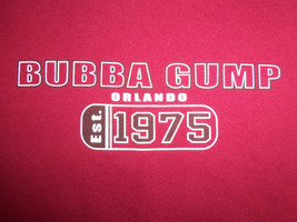 Bubba Gump Orlando Florida Est. 1975 Red Graphic Print T Shirt - XL - $17.46
