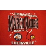NCAA Louisville Cardinals University Basketball Fan 2011 Final Four T Sh... - $17.56