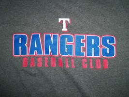 "MLB TX Texas Rangers ""Baseball Club"" Gray 50/50 Graphic Print T Shirt Youth L - $13.53"