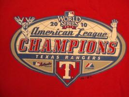 MLB Texas Rangers Major League Baseball 2010 World Series Champions T Shirt S - $17.66